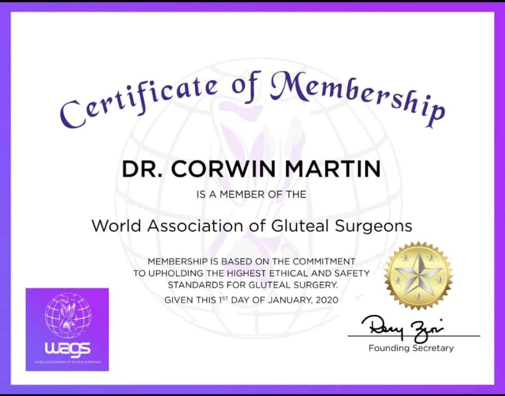 World Association of Gluteal Surgeons Certificate